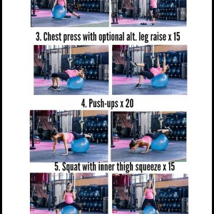 Stability ball strength workout
