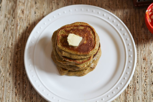 pumpkin banana protein pancakes perfect for your fall breakfast