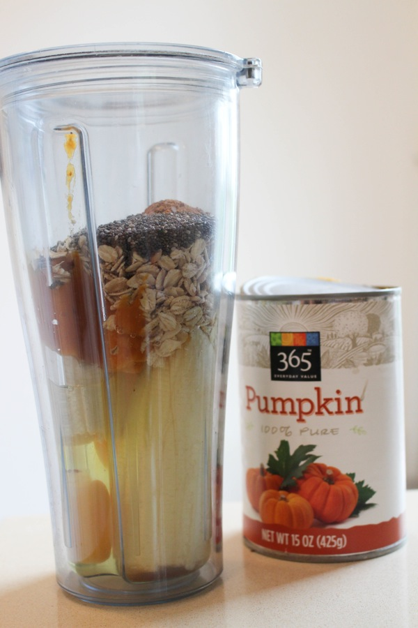 Protein-packed pumpkin banana blender pancakes ingredients