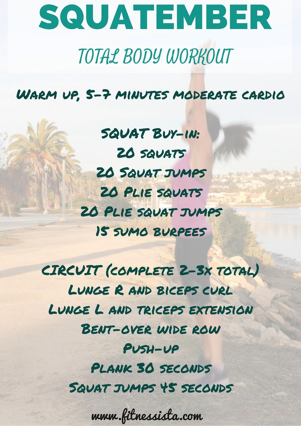 Squatember workout