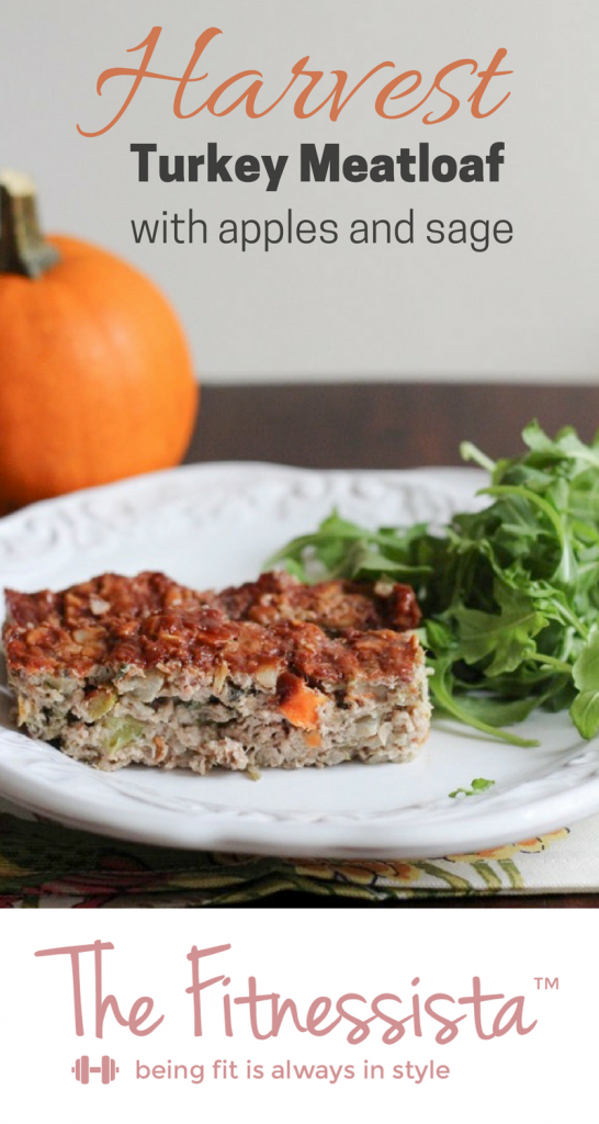 This turkey meatloaf recipe is full of harvest flavors like sage and dried cranberry. Hearty, cozy and healthy meatloaf for a chilly night. fitnessista.com