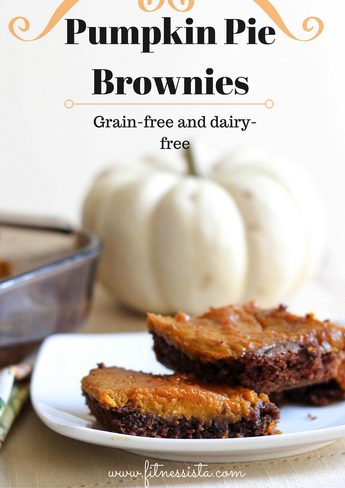 Pumpkin Pie Brownies, Grain-free Dairy-free