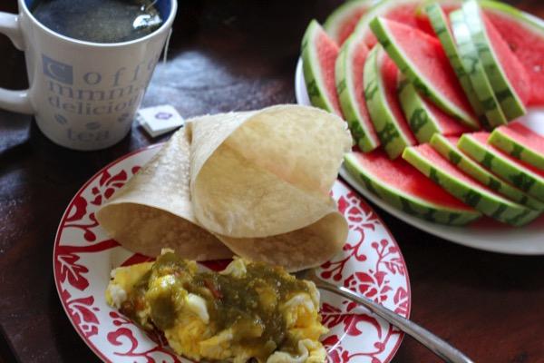 eggs and tortilla