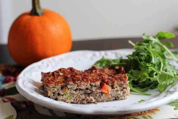 Harvest turkey meatloaf with balsamic glaze