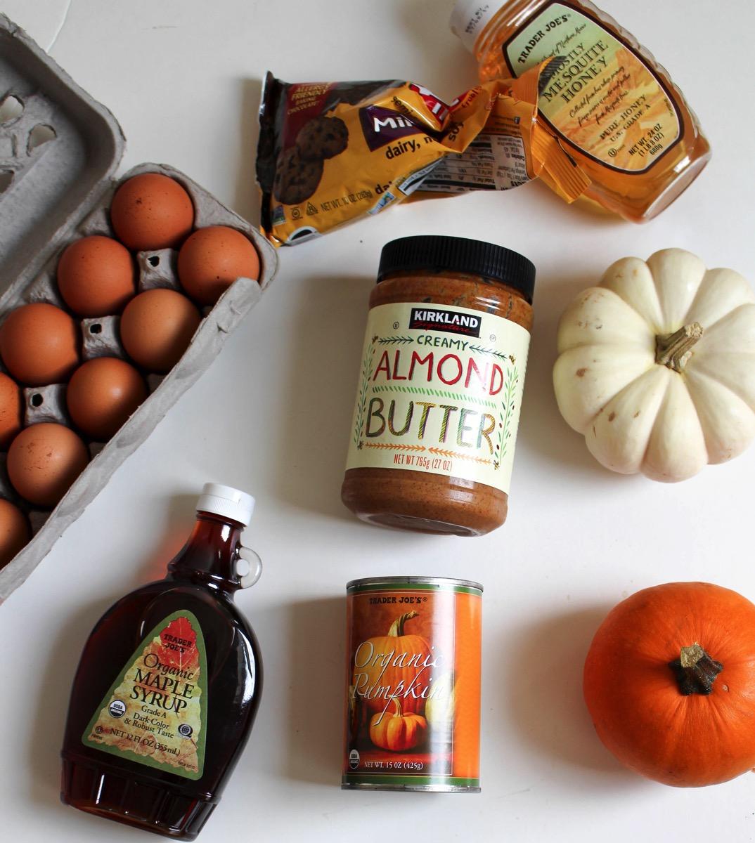 whole food ingredients for pumpkin pie brownies