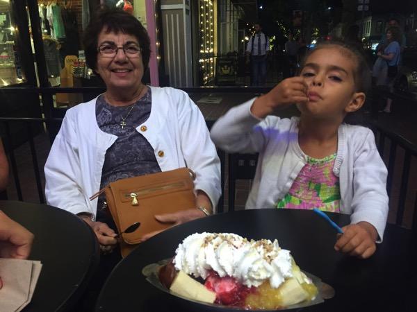 Liv and nani at ghiradelli