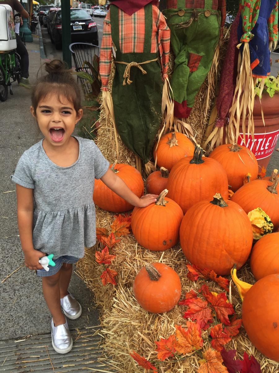 Liv w little italy pumpkins
