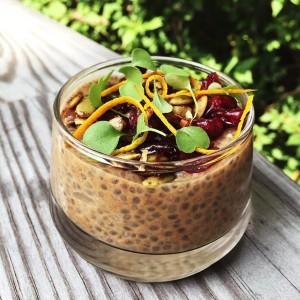 Pumpkin spice chia pudding www.fitnessista.com