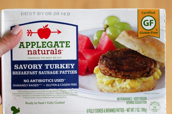 Applegate Naturals savory turkey breakfast sausage patties