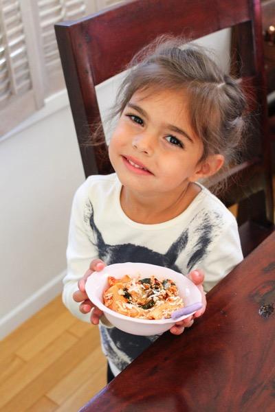 Livi with pasta