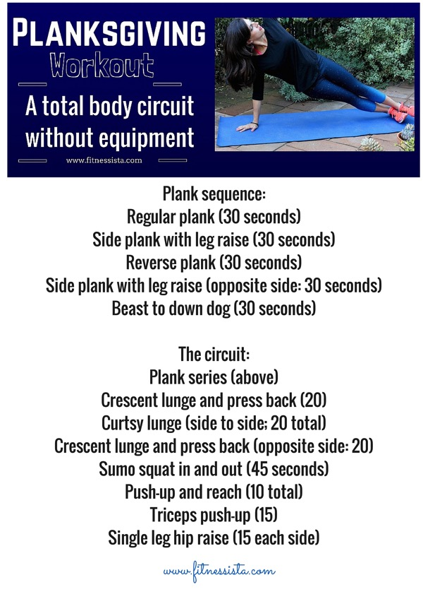 Planks giving workout - a total body circuit without equipment