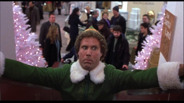 Buddy Elf Escalator Scared Face
