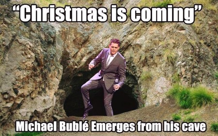 Christmas is coming michael buble cave