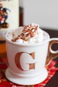 naught hot chocolate with rum