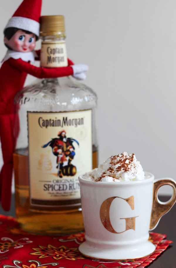 rumchata hot cocoa with elf on the shelf