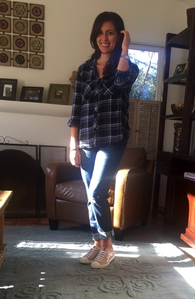 Plaid blouse Stitch Fix win