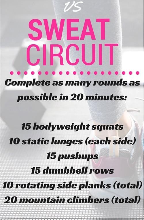 Vs sweat circuit