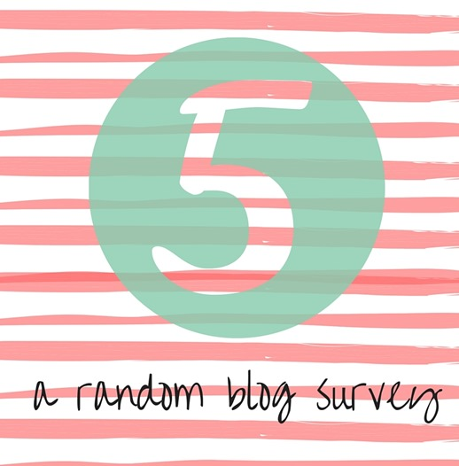 FIVE A Random Blog Survey thumb