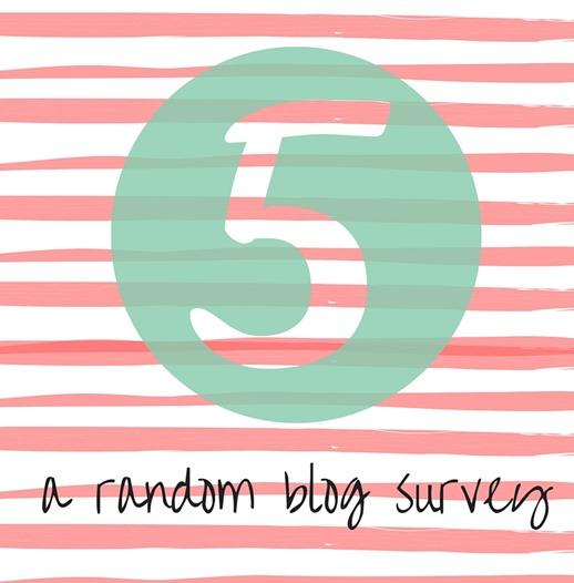 FIVE A Random Blog Survey thumb