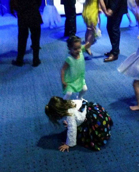 Livi on the dance floor