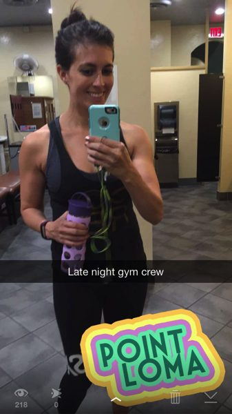 late night gym selfie