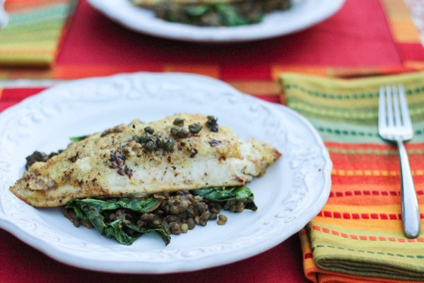 Catfish with lentils 2