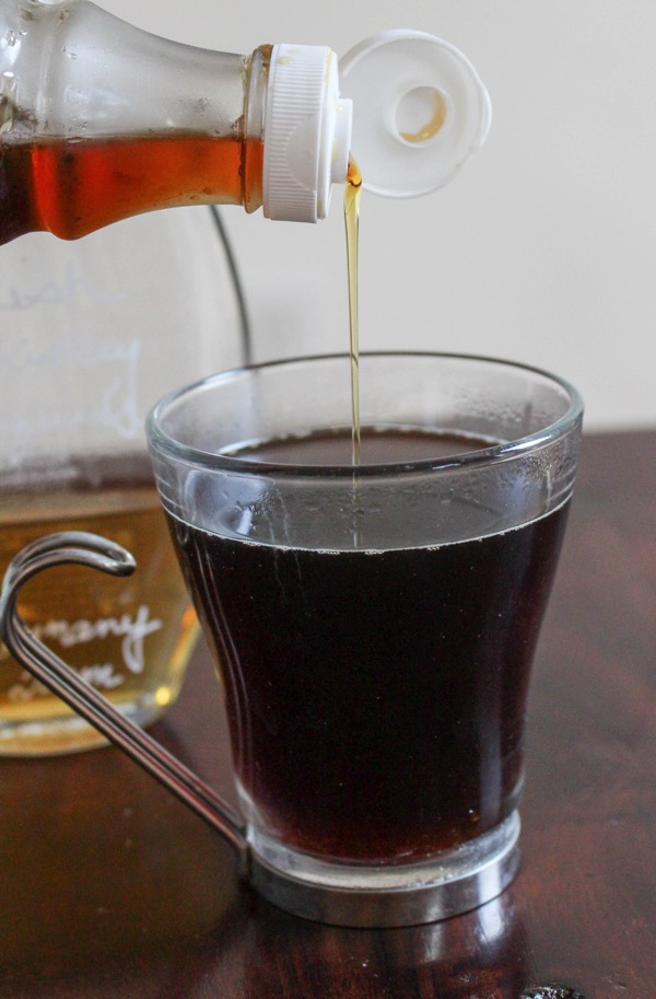 maple syrup and coffee
