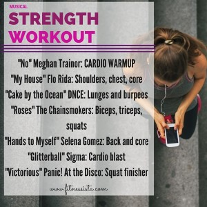 Musical strength workout