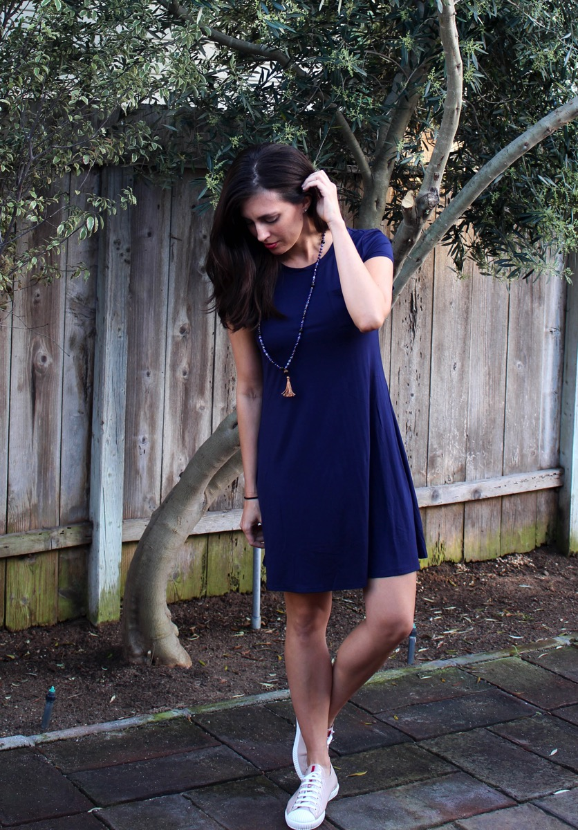 Navy dress Stitch Fix keeper