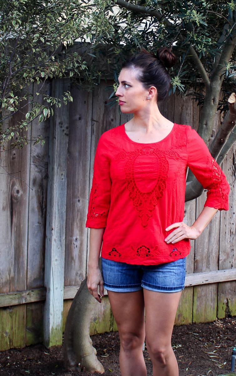 Red top Stitch Fix keeper