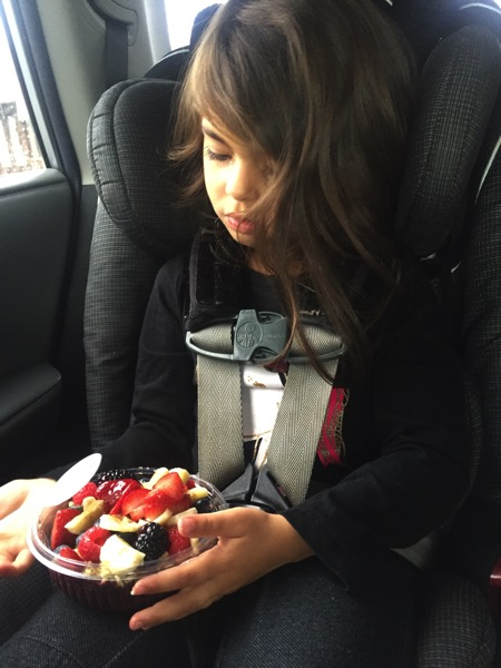 Liv with her Acai bowl