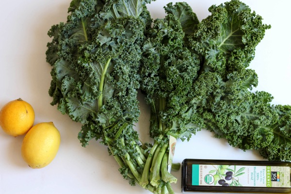 kale, lemons, olive oil