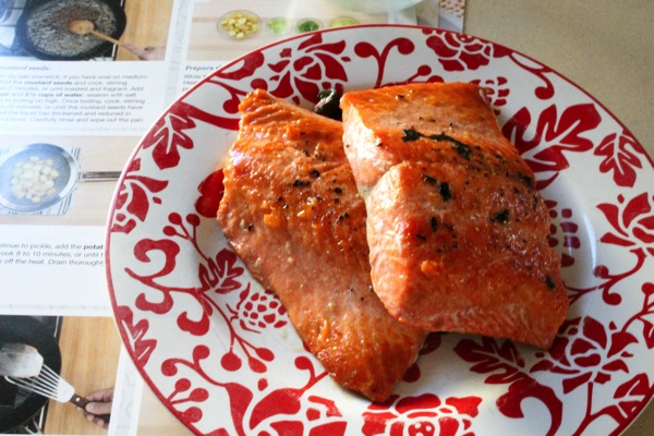 Blue apron sockeye salmon