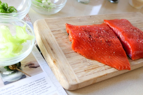 Blue apron sustainable salmon