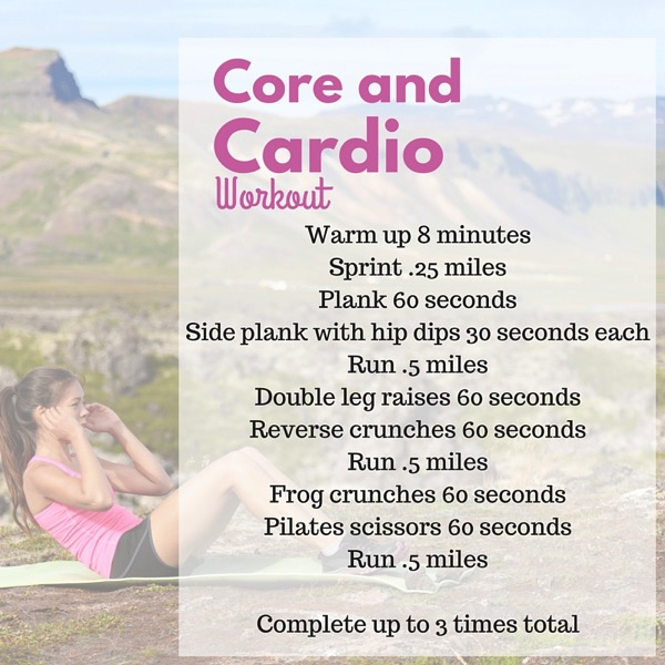 Core and cardio workout