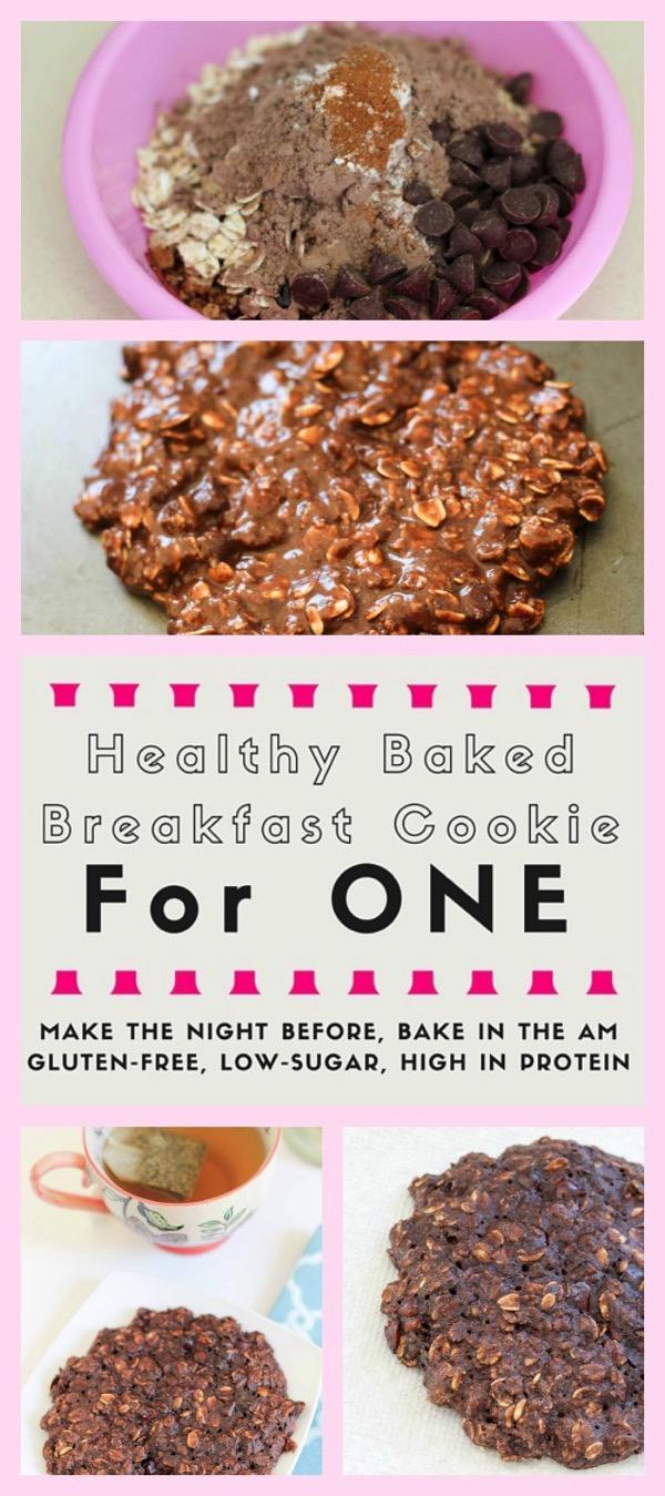 Healthy baked breakfast cookie