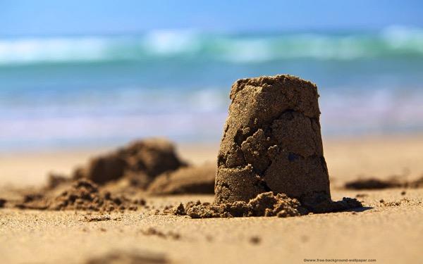 Sand castle desktop background