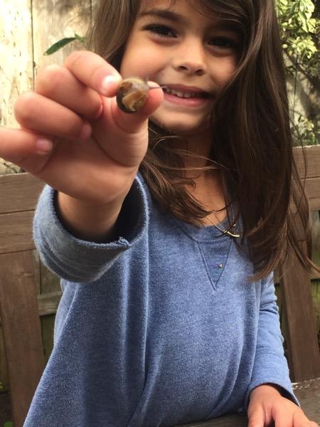 She loves snails