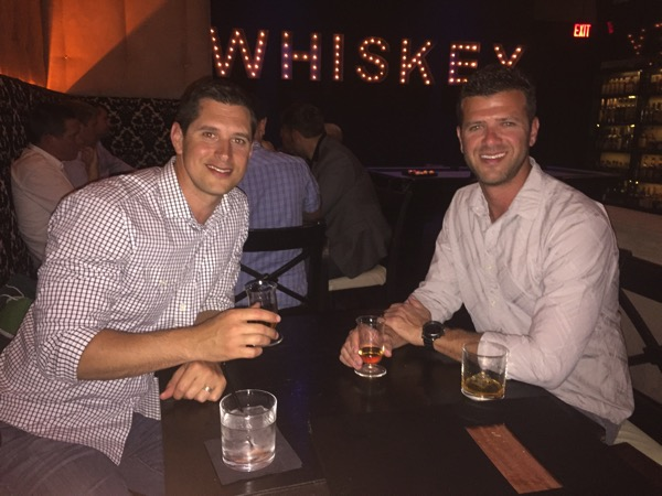 Tom and dave at Whiskey House