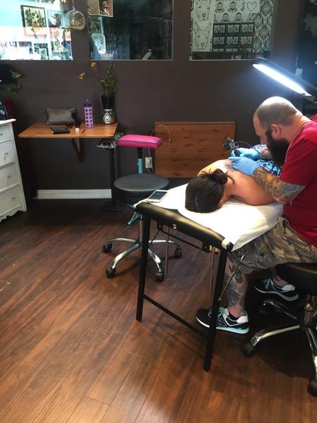 Getting my first tattoo at Buju