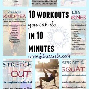 Got 10 minutes? Oh yeah you do. Here are 10 workouts that can be completed in 10 short minutes, many using simple gym equipment and dumbbells. You are only 10 minutes away from an awesome workout. Can't wait to try all of these! www.fitnessista.com