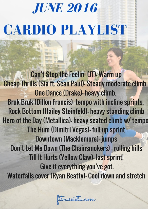 JUNE 2016 cardio playlist