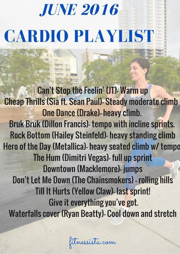 JUNE 2016 cardio playlist