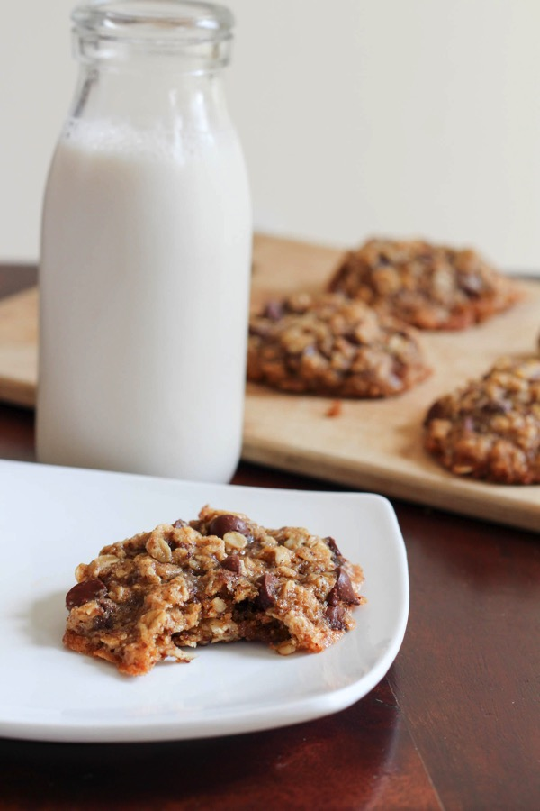 Gluten-free chocolate chip cookies with chosen foods avocado oil