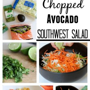 Chopped avocado southwest salad