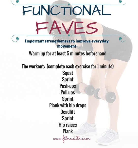 Functional faves workout to improve everyday movement