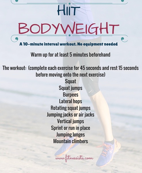 Hiit bodyweight