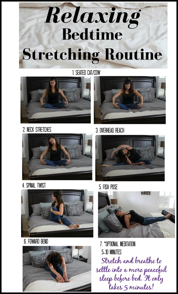 Relaxing bedtime stretching routine it only takes 5 minutes