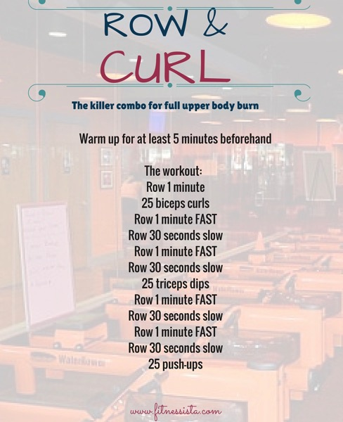 Row and curl workout