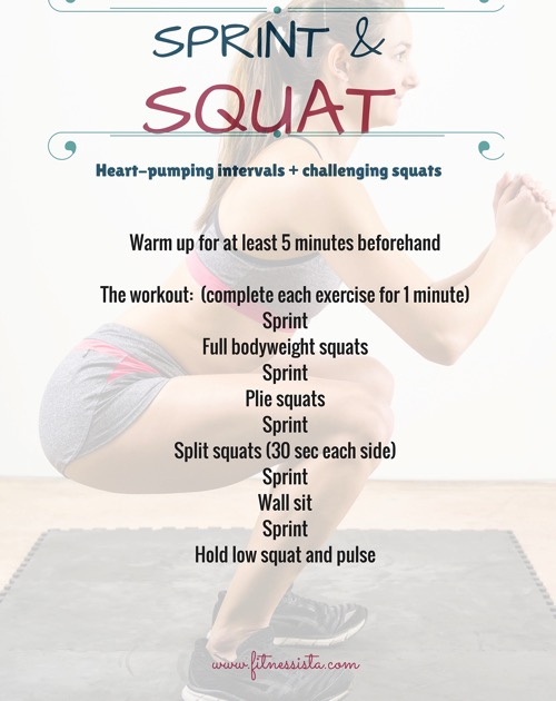 Sprint and squat workout